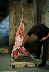 Amazing sexy girl fucked hard while bound