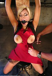 Busty chick pleases her master