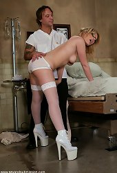 Gia Paloma gets slapped around, gags on cock and fucked in the pussy