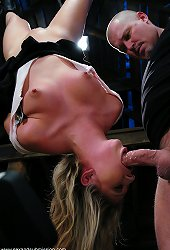 19 year old girl bound in suspension and dominated