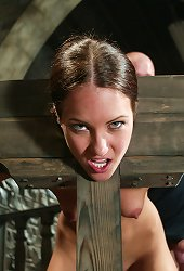 Bound in a wooden stock