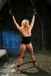 Bound Milf struggles to fight through the pain and discomfort